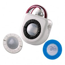 Leviton OSFHU-ITW Passive Infrared Fixture Mount High Bay Occupancy Sensor with Interchangeable  Lenses, White