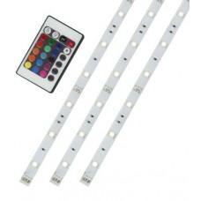 "Liteline LED-TP4-123K-RGB - 12V Colour Changing Flexible LED Tape Light Kit  - (3) x 20"" (50cm) LED Tapes - Dimmable"