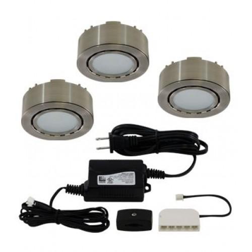 Wireless Puck Lights Canada: Liteline UCP-LED3-MN- LED 3-Puck Light Kit