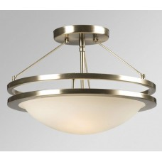 Galaxy-Lighting - 601322BN - Avalon family - 2-Light Semi-Flush Mount -  Brushed Nickel w/ Frosted White Glass