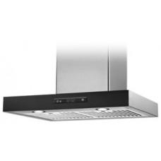 "LumiFaro - 24940-480-GL-BK -Slim Wall-Mount Range Hood - Stainless Steel and Black Glass  - 30"" - 480CFM"