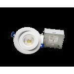 Reno R36105 - Ultra-Slim LED - 4-inch Gimbal White 9W 3000/4000/5000K 120V - RENO-LED-4-S9W-FG-345KWH