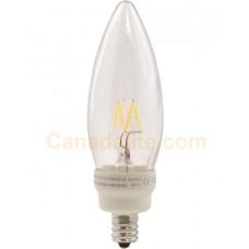 Ushio 1003701 - U-LED Candle - Retrofit LED C11 Bulb - 0.6W / E12 - Warmwhite / 2700K - 40,000 Hours ** Discontinued and Not Available**