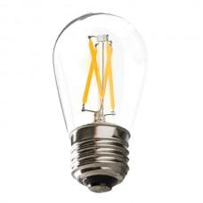 Ushio 1004161 - U-LED™ Filament LED S14 - Warm White / 2700K - 1.5W - Clear - Dimmable - E26 Base - 16-PACK